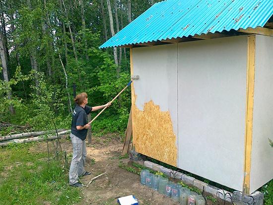 Покраска ОСБ как альтернатива фасадной отделке