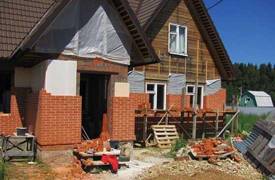 Как и зачем обкладывать деревянный дом кирпичом
