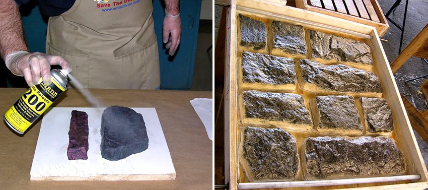 Этапы производства декоративного камня в домашних условиях