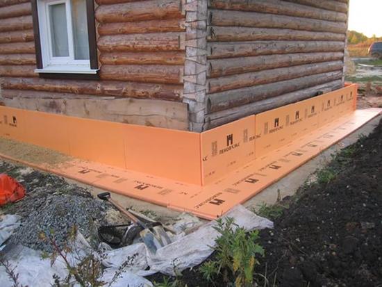 Как утеплить фундамент уже построенного деревянного дома снаружи своими руками: виды утеплителей