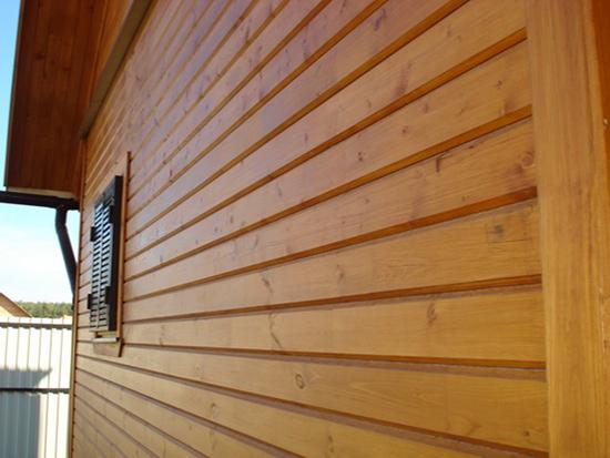 Наружная обшивка деревянной вагонкой