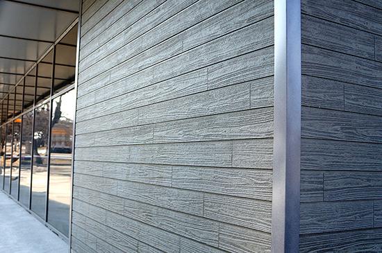 Декорирование фасада хризотилцементным сайдингом