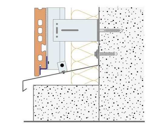 Узлы примыканий вентилируемого фасада
