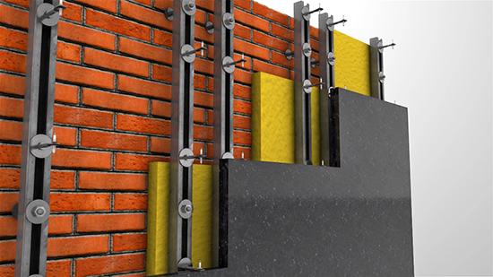 Как и из чего создается каркас для навесного фасада?