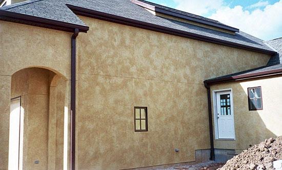 Использование краски короед для работ по фасаду