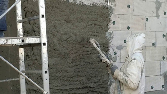 Какую штукатурку наносят на фасады домов из газобетона