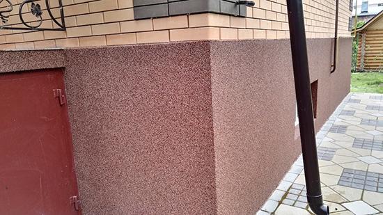 Наружная штукатурка фундамента для внешней отделка стен дома