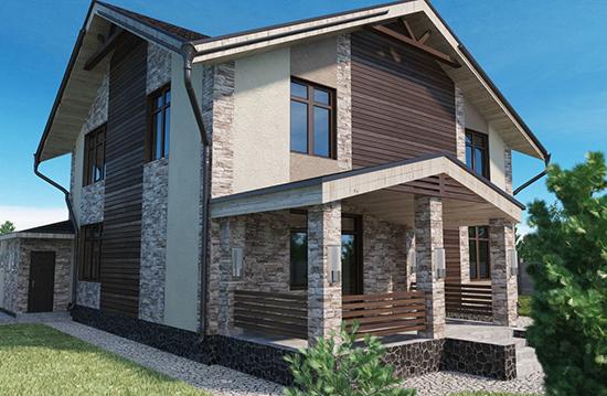 Модные тенденции: комбинированный фасад из штукатурки и дерева