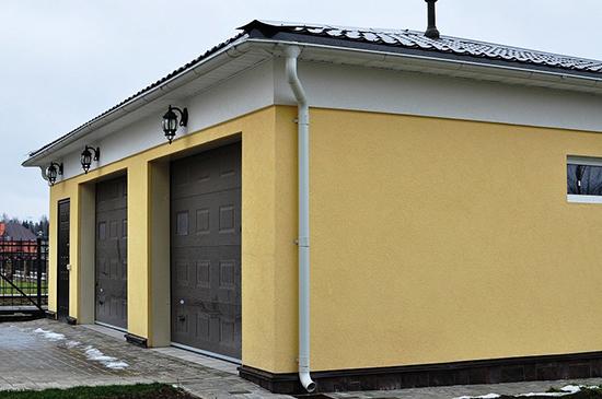 Руководство по оштукатуриванию фасада гаража