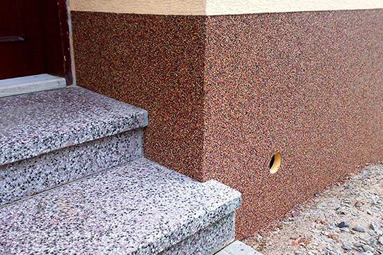 Какую особенность имеет гранитная штукатурка для фасада