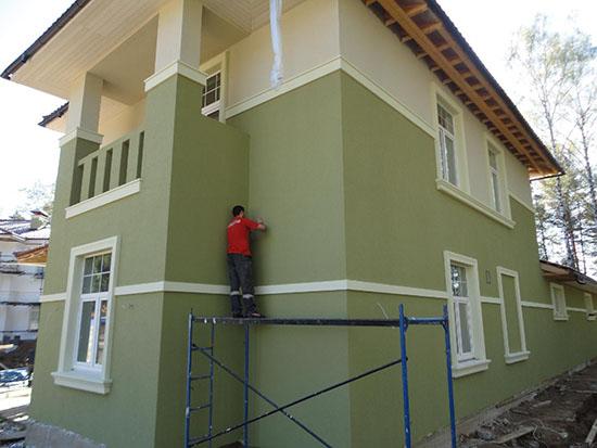 Какой толщины должна быть штукатурка на фасаде